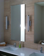 Floating mirrors in Ankeny and Des Moines area master bath