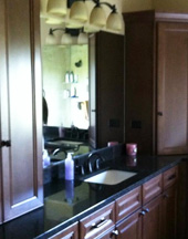 Mirrors in Ankeny and Des Moines area master bathroom