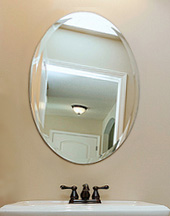 Beveled oval mirror in Ankeny and Des Moines area