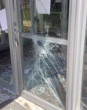 Door glass repair in Ankeny and the Des Moines area